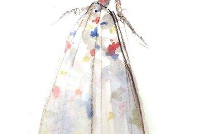 Los más lindos y elegantes vestidos de novia en ilustraciones de moda... ¡Wow!