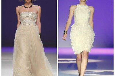 Vestidos en colores claros para las novias románticas