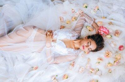 Предсвадебная фотосессия невесты: будуарная съемка