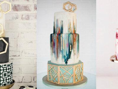 Malowane torty ślubne: 9 różnych stylów i wszystkie niesamowite!