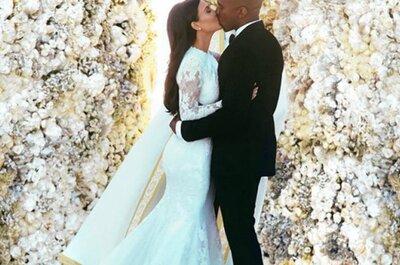 Las damas de honor de Kim Kardashian vistieron de YolanCris