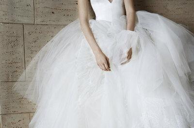 Vestidos de novia con escotes en uve 2015: estilo elegante para tu boda