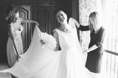 Elige tu vestido de novia según la forma de tu silueta