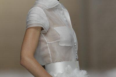 La tendencia que todas las novias quieren llevar: Los más increíbles vestidos de novia 2015 con cuellos camiseros
