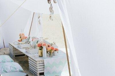 Envie d'une jolie tente dans le jardin ou sur la plage pour votre mariage? Voici nos idées