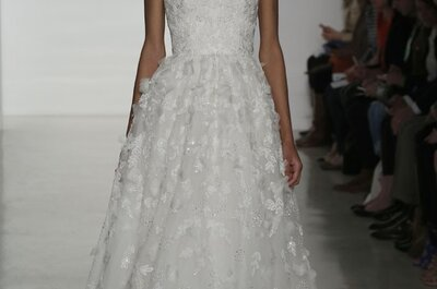 Exquisita simplicidad en los vestidos de novia primavera 2015 de Amsale