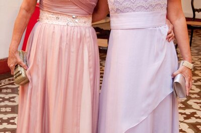 Glamour e elegância para as mães dos noivos