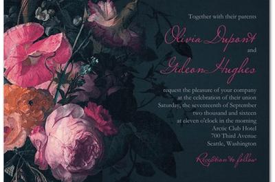 Invitaciones de boda estilo vintage de Claire Pettibone para Wedding Paper Divas