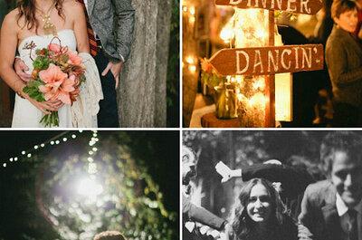Decoração de casamentos: mensagens e direcções em madeira