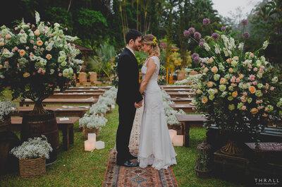 Casamento rústico ao ar livre em Petrópolis de Iana & André: onírico!