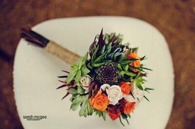 Lleva el desierto a tu boda: Ideas para armar una decoración con cactus