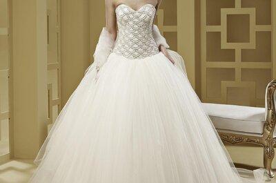 Vestidos de novia con corte princesa: ¿Clásica o glamourosa?
