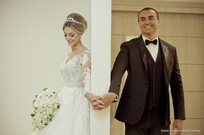 Lorena & Cláudio: casamento clássico com decoração MAGNÍFICA
