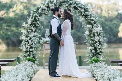 Denise & Diego: casamento vintage na fazenda com toques DIY inesquecíveis!