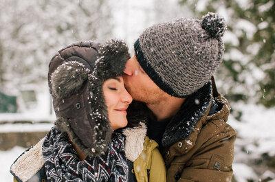 Sesja narzeczeńska opruszona świeżym zakopiańskim śniegiem, to bajeczny krajobraz i wielka frajda!