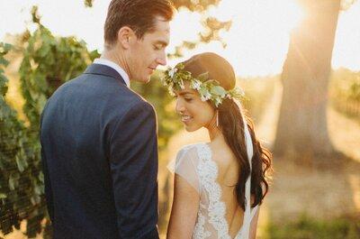Inspírate en el estilazo de esta novia para tu boda