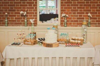 Sélection de desserts de mariage
