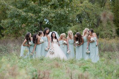 Colores pastel tendencia en los vestidos de las damas de honor