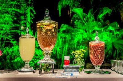 Decoração com bebidas: 6 dicas para fazer do bar, a estrela do seu casamento!