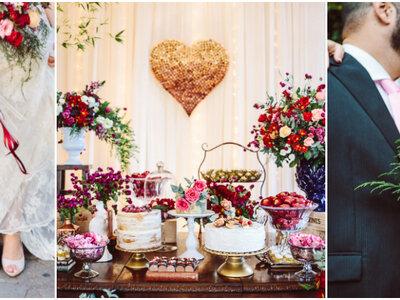 Casamento ao ar livre super original e colorido de Marília e Yasser: bem-vindo ao Mercado!