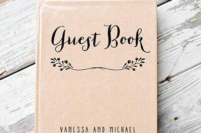 Um toque original ao livro de assinaturas do seu casamento
