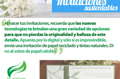 Invitaciones ecológicas para una boda sustentable en 2013
