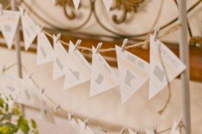 Decoración de bodas: Ideas con papel