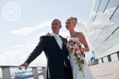 Hochzeitsfotos von der Elbe - die Hochzeit von Ramona und Daniel in Hamburg