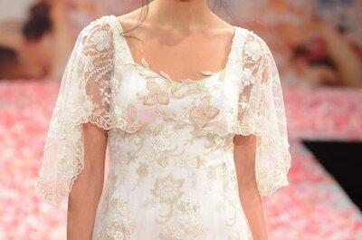 Tocados florales para peinado de novia 2013