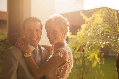 Cris y Santi: Una boda civil llena de amor, glamour y moda... ¡No te pierdas el vestido de la novia!