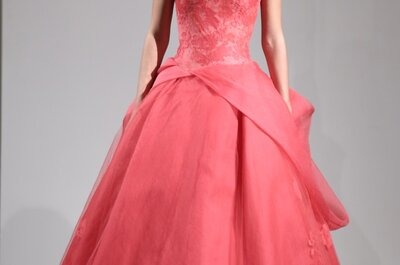 Vestidos de novia 2014 Vera Wang en color rosa para otoño