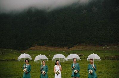 E se piove? Ecco 6 elegantissimi ombrelli da sposa