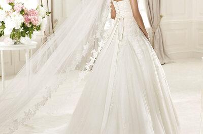 Os mais incríveis acessórios para noivas da coleção Pronovias 2015: lindos boleros e véus vintage