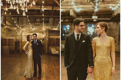 Casamento rústico-vintage em Nova York chama a atenção por seus detalhes modernos