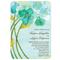 Invitación de boda con flores en color cerde esmeralda, azul, blanco y amarillo