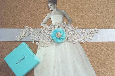 Etwas Blaues für die Hochzeit