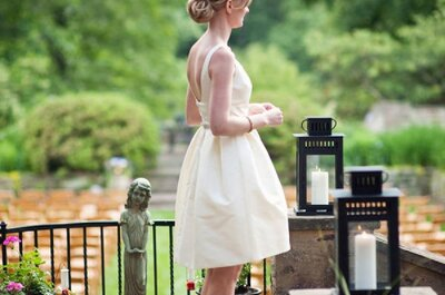 Noivas lindas e estilosas: modelos de vestidos para casamento civil
