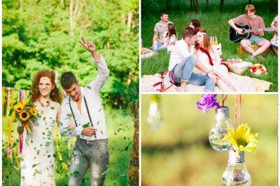 Peace and Love: Eine Real Wedding im Hippie Style