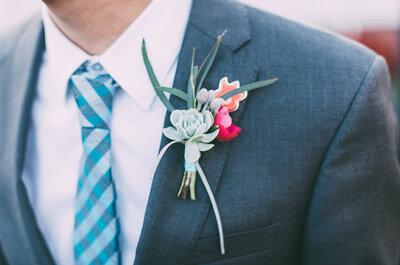 8 complementos que tu novio deberá usar para lucir atractivo el día de la boda