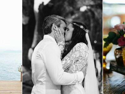 Casamento ao ar livre de Kika & Leo: pé na areia, sob a árvore e com a benção das ondas!