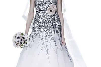 Carolina Herrera presenta sus nuevos vestidos de novia estampados para 2012