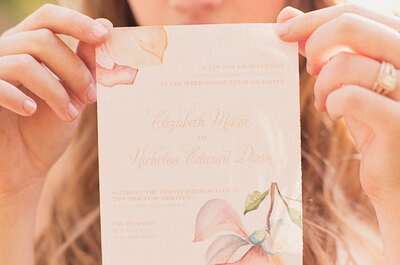 Watercolors: the Latest Trend in Wedding Stationery We're All Swooning Over