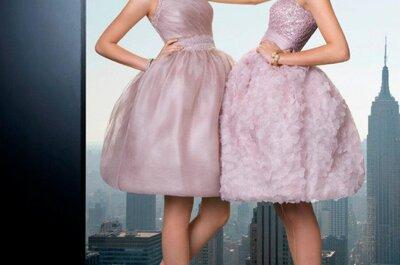 Krótkie sukienki na wesele z kolekcji Rosa Clara 2013