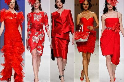 Tendencias: vestidos de fiesta rojos para invitadas a bodas 2014