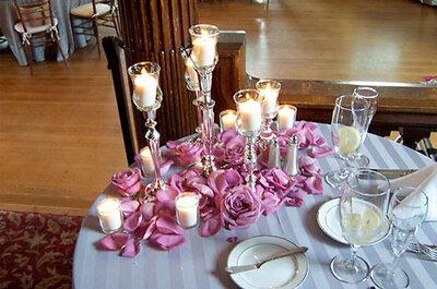 Decoración floral para mesas de otoño