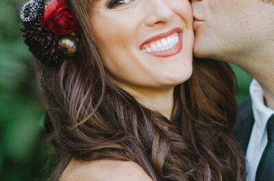 Para noivas com cabelos ondulados e encaracolados