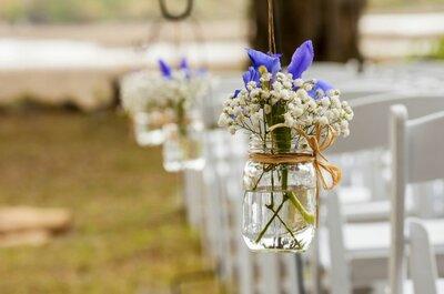 Sugerencias para marcadores hacia el altar según el estilo de la boda