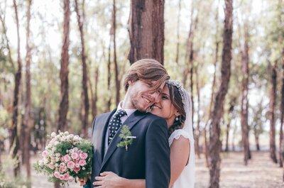 10 segundos, 500 kilómetros... La boda de Tania y Tito