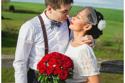 Un mariage en Fiat 500 : Le joli jour vintage d'Ellen et Alexis
