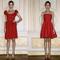 Vestidos de fiesta cortos en color rojo intenso con telas voluminosas y enfoque en la cintura